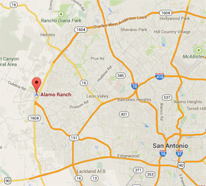alamo ranch tx map