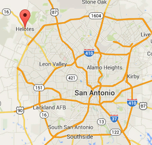 Helotes Property Management area map
