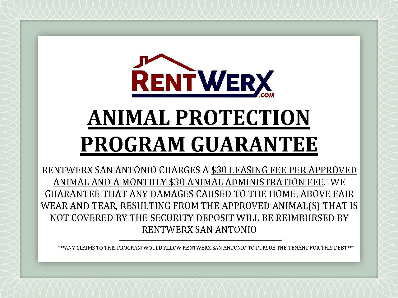 Animal Protection Program Rentwerx San Antonio