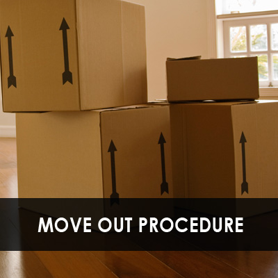 Move out procedures